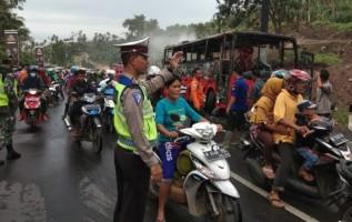 Ini Kata Pihak Kepolisian Soal Kebakaran Bus DAMRI