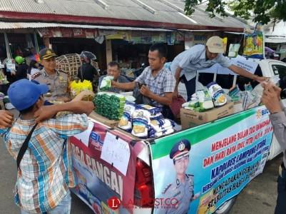 Jaga Kestabilan Harga Bahan Pokok, Polres Lampura-Bulog Gelar Pasar Murah