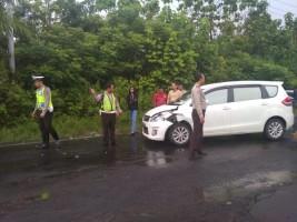 Jalan Berlubang, Kasatlantas Polres Way Kanan Imbau Pengendara Berhati-hati