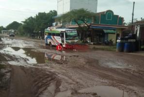 Jalan Provinsi Menuju Pintu Tol Tubaba dan Gunungbatin Rusak Parah
