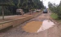 Jalan Rusak Berlubang, Warga Tanjungharapan Desak Dinas Terkait Perbaiki Jalan