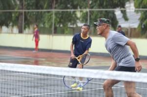 Jalin Sinergitas, Danrem 043/Gatam Ajak Jurnalis Olahraga Bersama