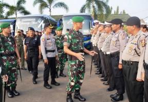 Jelang Kedatangan Wapres JK, Korem 043/Gatam Gelar Apel Pasukan Gabungan