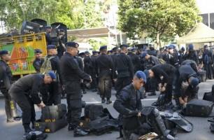 Jelang Putusan MK, Ribuan Personel TNI-Polri Bersiaga di Silang Monas