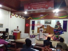 Jemaat HKBP Bergen Gelar Kebaktian Ujung Tahun