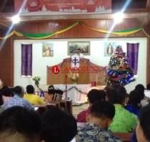 Jemaat HKBP Bergen Helat Kebaktian Tahun Baru