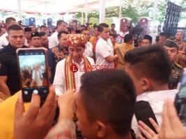 Jokowi Bantah Isu Miring Dihadapan Warga Lamteng
