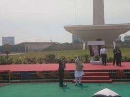 Jokowi dan PM India Main Layang-Layang di Monas
