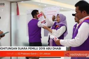 Jokowi-Ma'ruf Menang di Dubai, Prabowo-Sandiaga Unggul di Abu Dhabi