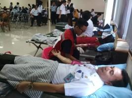 Kanwil Kemenkumham Lampung Gelar Donor