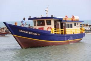 Kapal Hibah Kemenhub Tiba di Dermaga Bom Kalianda