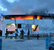 Kapal Penumpang di Lingga Terbakar