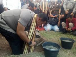Kapolda Lampung Groundbreaking Mapolres Lampung Selatan