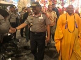 Kapolda Tinjau Keamanan Perayaan Malam Imlek ke Wihara