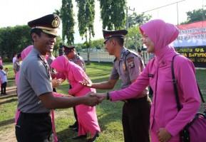 Kapolres Apresiasi 48 Personel Polri yang Naik Pangkat.