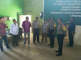 Kapolres Lampung Utara Cek Gudang Logistik KPU