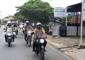 Kapolres Lampung Utara Pimpin Patroli Bermotor