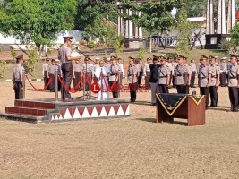Kapolres Lampura Gelar Upacara Serah Terima Jabatan Sejumlah Perwira