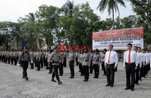 Kapolres Lamsel Pimpin Apel Operasi Mantab Brata Krakatau