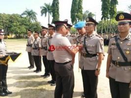 Kapolres Way Kanan Sertijab Empat Pejabat Utama Polres