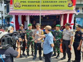 Kapolresta Pantau Pos Mudik dan Imbau Personel Waspada Gangguan Radikal