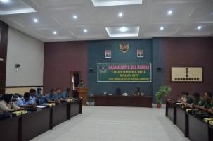 Kasi Logistik Korem 043/Gatam Terima Tim Evaluasi dan Pengkajian Kemhan RI