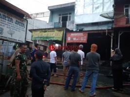 Kebakaran Pasar Simpangpematang Diduga Korsleting Listrik