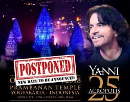 Kecelakaan, Yanni Batal Konser di Prambanan Pekan Depan