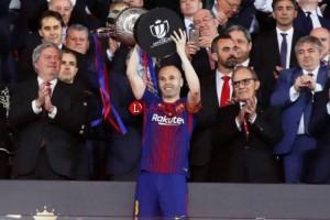 Kemenangan Barca di Laga Terakhir Iniesta