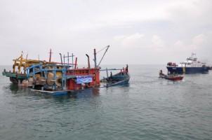 Kementerian Kelautan dan PerikananTangkap Enam Kapal Asing