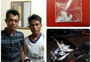 Ketahuan Buang Sabu, Dua Pemuda ini Langsung Digelandang ke Polsek Terbanggibesar