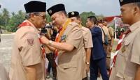 Ketua Mabicab Lampung Tengah Terima Lencana Darma Bakti