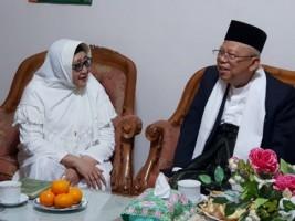 Kiai Ma'ruf Silaturahmi ke Tiga Sesepuh Ponpes Krapyak Yogyakarta