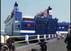 KMP Wira Berlian Tabrak Dermaga V saat Uji Coba Pelayaran