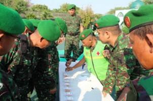 Kodim 0411 Lampung Tengah Gelar Tes Urine Mendadak