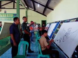 Kodim 0421 Lampung Selatan Gelar Lomba Lukis Komsos Kreatif