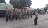 Kodim 0422/Lambar Berangkatkan 30 Personel Kemanusiaan ke Lokasi Bencana Tsunami