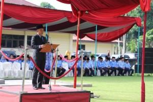 Komandan Upacara Peringatan Hari Lahir Pancasila di Pemkab Lambar Dapat Hadiah Umrah