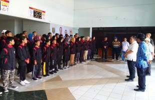 KONI Lampung Lepas 40 Atlet Hapkido Bertolak ke Kejurnas IV Semarang