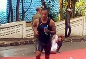 Koptu Marinir Solihin Juarai Internasional Sungailiat Triathlon 2019