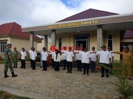 Koramil Mesuji Bekali Perangkat Desa Margo Rahayu Keterampilan PBB
