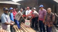 Korban Kebakaran di Kualajaya dapat Bantuan Meterial Bangunan