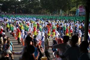 Korem 043 Garuda Hitam Pecahkan Rekor MURI Tari Gemu Famire