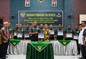 Korem 043/Gatam Canangkan Zona Integritas Bebas Korupsi