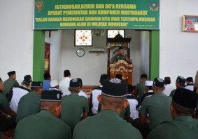 Korem 043/Gatam Gelar Doa Bersama untuk Korban Bencana Sulteng