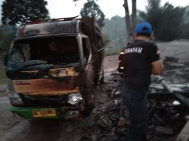 Korsleting Listrik, Rumah Warga Pekon Kerang Terbakar