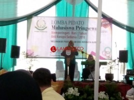 Korupsi Jadi Tema Lomba Pidato di Kejari Pringsewu