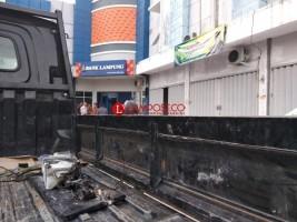 Kotak Meteran Listrik di Bank Lampung Pulungkencana Terbakar