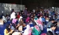 KPU Bandar Lampung Kerahkan 100 Orang Lipat Surat Suara