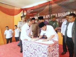 KPU Bandar Lampung Resmikan Gudang Logistik